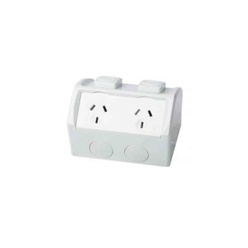 Weatherproof External Double Power Outlet
